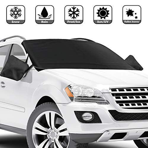 Ice Frost,UV Full Protection,Extra Large /& Thick Fit for Most Vehicle KOOLSOLY Car Windshield Snow Cover,3-Layer Protection/&Double Side Design,Snow 87x50 Windshield
