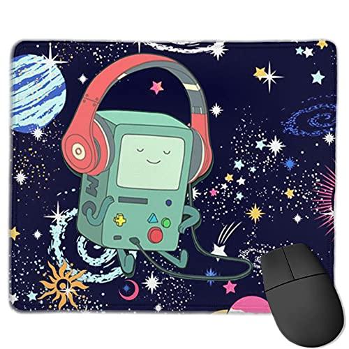 Adventure Time BMO specialgjord liten musmatta 25 x 30 cm (9,8 x 11,8 tum) musmatta halkfri gummi rektangel musmatta för spel kontor hem