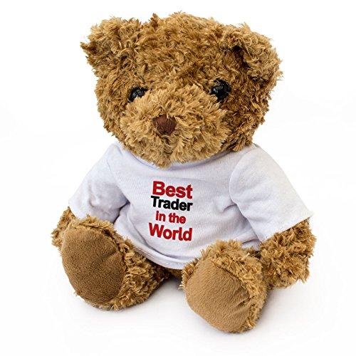 BEST TRADER IN THE WORLD - Teddy Bear - Cute Soft Cuddly - Award Gift Present Birthday Xmas