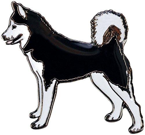Blue Bug Gifts - Spilla a forma di cane, 10animali diversi, Acciaio inossidabile, colore: Husky, cod. BB80320