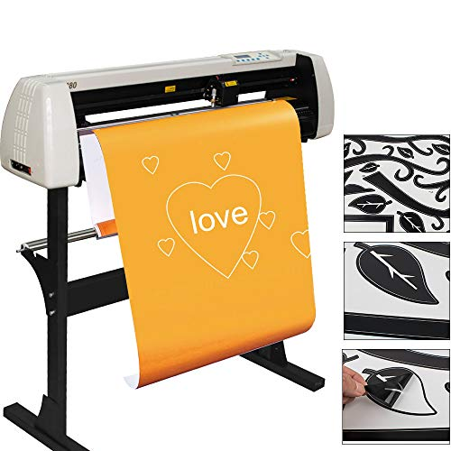 Colilove 28 Inch Vinyl Cutter Plotter Machine 720mm Paper Feed Vinyl Plotter Cutter Machine with 2 Vinyl Cutter/Plotter with Stand, H720 from USA