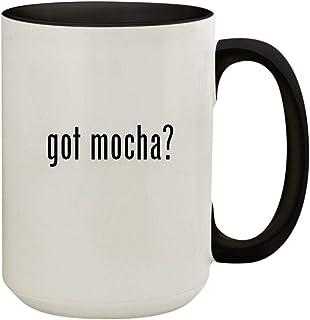 got mocha? - 15oz Ceramic Colored Inside & Handle Coffee Mug Cup, Black