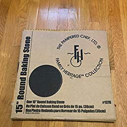 "Pampered Chef 15"" Large Flat Pizza Stoneware"