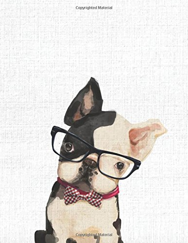 Cute Animal Composition Book Frenchie: 8.5 x 11'', 200 Wide Ruled Pages, Notebook for School Softcover Canvas Design: Large notebook journal for ... college (Peekaboo animal notebook) (Volume 9)