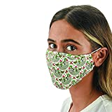 Snoozies 3-Layer Washable Face Mask w Filters & Nose Bridge - Sloths