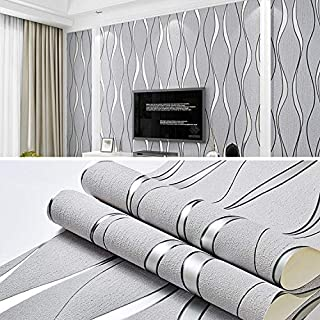 LCGAU Simple 3D Water Ripple Non-Woven Wallpaper Home Decoration Wall Sticker