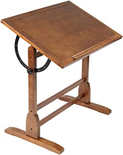 Studio Designs 36 x 24 Rustic Oak Vintage Drafting and Hobby Craft Table