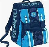 official product SSC Napoli - Mochila Napoli Sprint (41 cm, Dresden Blue) + balón - Apoyo móvil,...