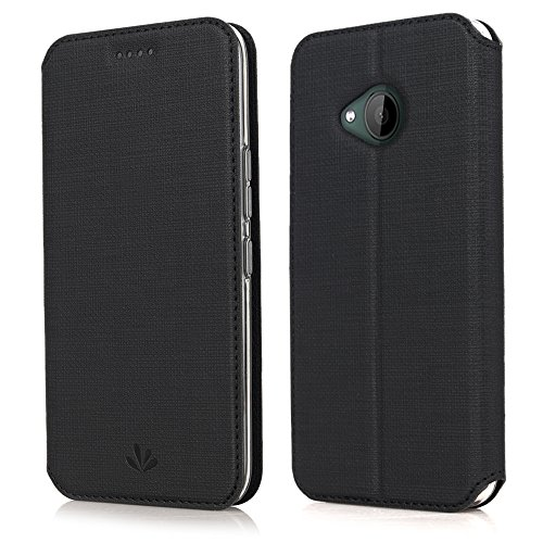 DDJ HTC U11 Life Hülle,Leder Tasche Flip klappbares Hülle Cover Standfunktion Magnetverschluß Card Holder kristallklarer TPU Stoßstange Wallet Schutzhülle Handyhülle für HTC U11 Life