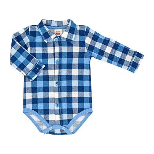 Makoma Baby Body-Hemd Langarm Größe 68-92 (86, blau)