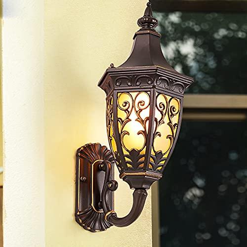 Lámpara De Pared De Dos Cabezas, Lámpara De Pared De Estilo Europeo Fresco, Balcón De Entrada Antiguo Al Aire Libre, Lámpara De Pasillo LED De Doble Cabeza Hacia Arriba, Lámpara De Pared Exterior De