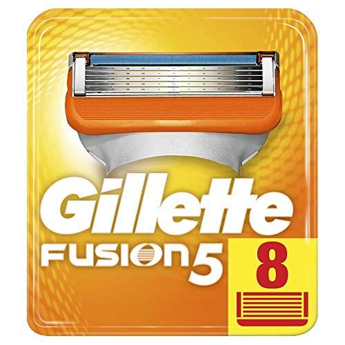 Gillette Fusion 5 Lamette di Ricarica per Rasoio Uomo, Confezione da 8 Lamette di Ricambio per una Rasatura Impercettibile