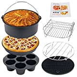 Air Fryer Accessories 8 Inch, Set of 7 Pcs for Gowise Phillips Cozyna Airfryer XL 3.8QT-5.8QT