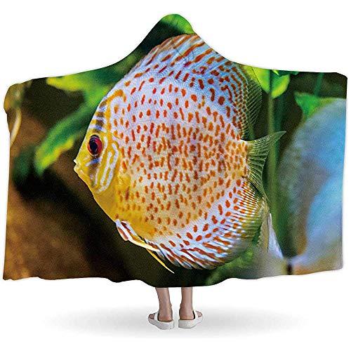 BeiBao-shop Diskusfische im Aquarium, Mit Kapuze Blankets126836