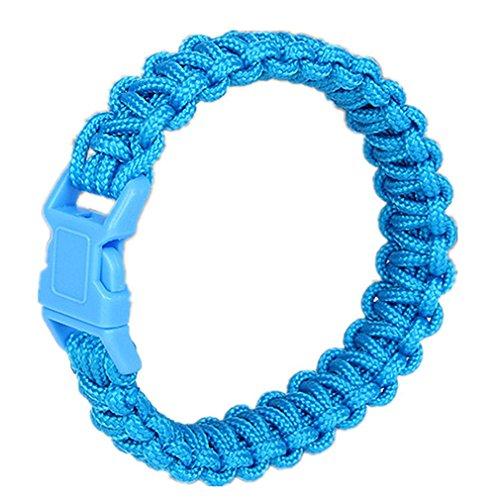 GAOHAILONG GAOHL Kit d'urgence Bracelet, corde de Parachute, feu, blue