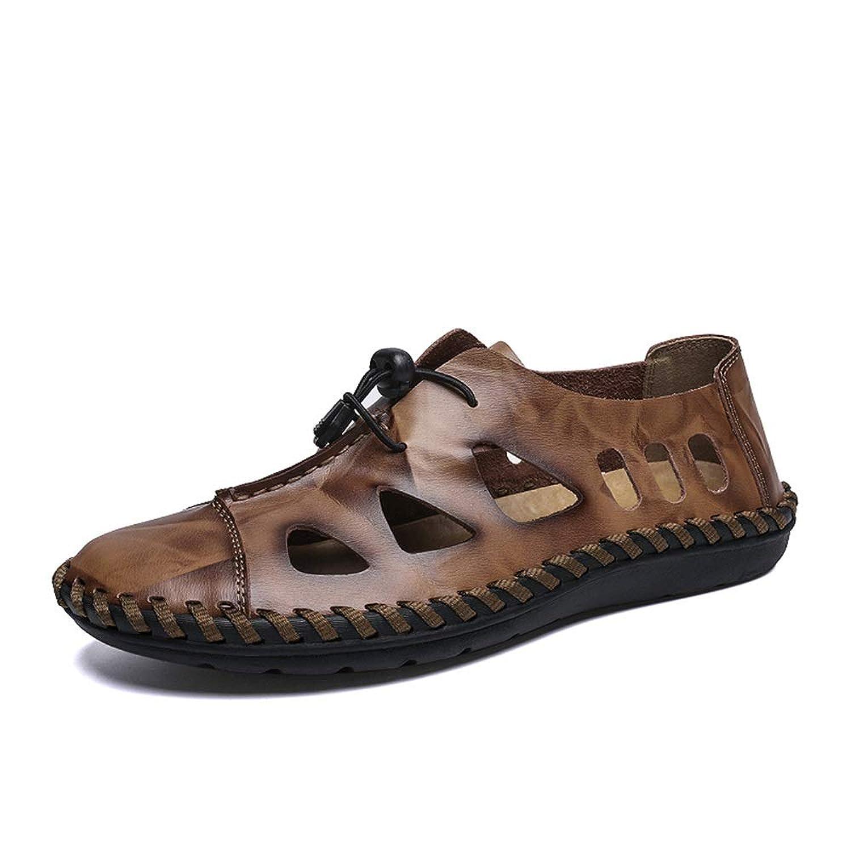 [CHENJUAN] 靴サンダル用男性ファッションカジュアルフレッシュで 弾性レースアップ柔軟な屋外ウォーターシューズ