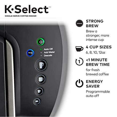 The K-Select and its removable drip tray