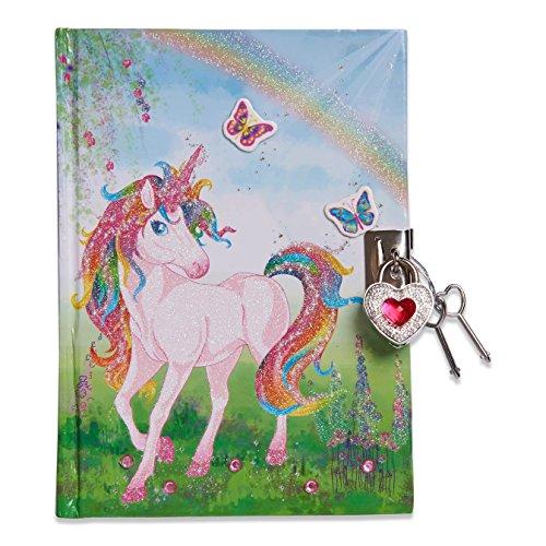 Lucy Locket - Diario unicorno magico (set scrittura, carta per lettere, diario segreto con lucchetto e chiavi) Diario glitterato per bambini