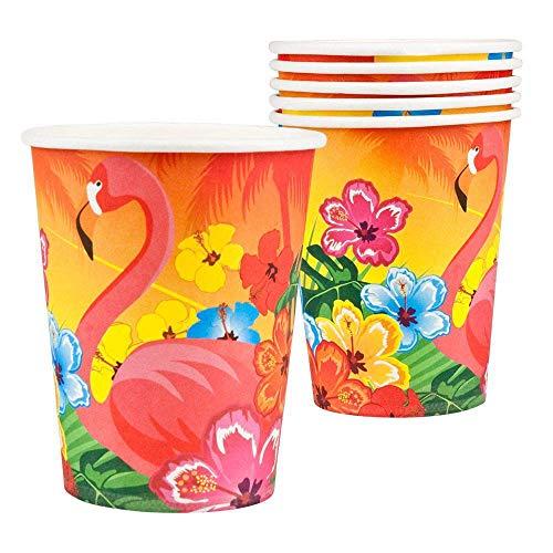 Boland- Flamingo Hibiscus Bicchieri, Multicolore, 52520
