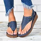 Sandalias Planas De Moda Para Mujer Sandalias De Cuero Con Punta Abierta Ortopédica Cómoda Sandalias...