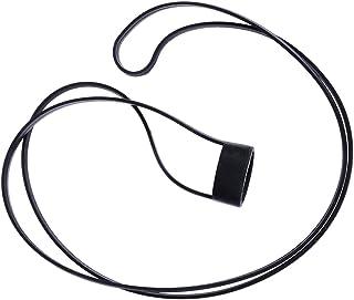 CLISPEED - Cinghia per sigaretta elettronica, in silicone, per collo di sigaretta (nero), nero