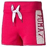 PUMA Style Athletics Sweat Shorts G Short pour Enfant 12 Ans Rouge chiné