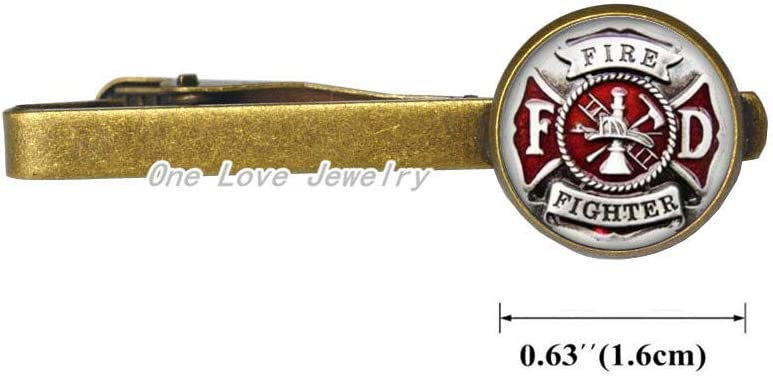 Fire Fighter Tie Clip,Fire Dept Tie Pin,Firefighter,Fireman Gift,Gift for Coworker,for him,Art Gifts,for Her,TAP338