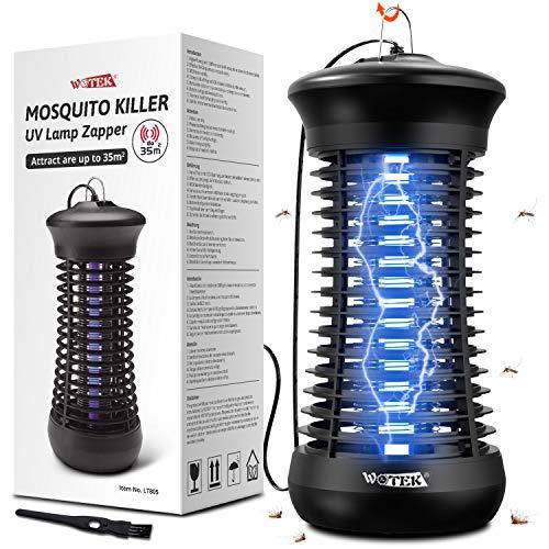Lámpara Antimosquitos,360°UV LED Lámpara Matamoscas Electrico,Lámpara Anti Mosquitos 6W,Trampa Mosquitos Interior,Luz Antimosquitos en Casa,Atrapa Moscas,Mosquitos,Polillas,Insectos| 35㎡ Area Efectiva
