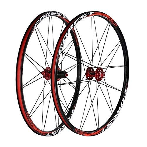 XIAOL Ruota Mountain Bike 26 Coppia Ruote Bici 27 5 Pollici Freno A Disco A Doppia Parete MTB Cerchione QR 24H Compatibile 7 8 9 10 11 velocità,26inch