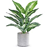 16' Small Fake Plants Artificial Potted Faux Plants Desk Plant for Home Office Farmhouse Kitchen Shelf Indoor Decor