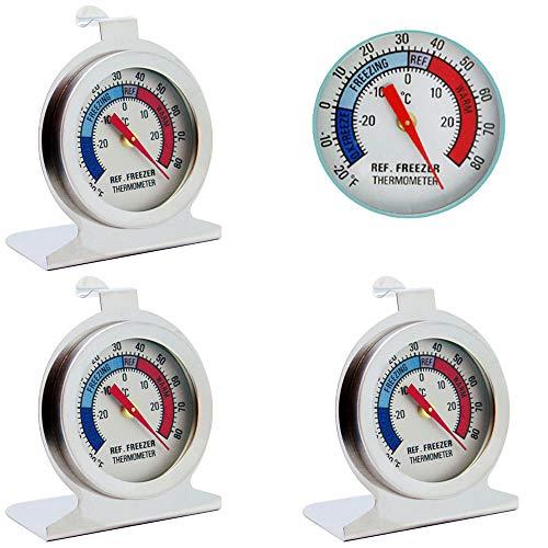 Jixista Kühlschrankthermometer Gefrierthermometer Kühlschrank Gefrierschrank Thermometer EisfachThermometer Rund Thermometer für Kühlschrank Gefrierschrank Restaurants Kühlschrank Gefrierschrank 3PCS