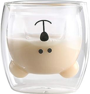 Tasse à café Ours tasses à thé Tasse à verres isolés à double paroi Tasses à lait de thé animal mignon Cadeau original pou...
