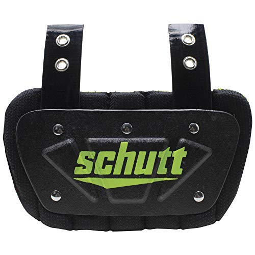 Schutt Sports Neon Football Back Plate, Neon Green, Youth