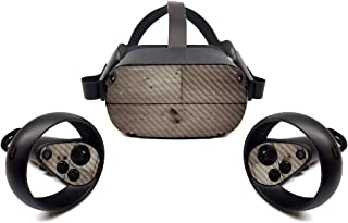 MightySkins Carbon Fiber Skin for Oculus Quest - Wooden | Protective, Durable Textured Carbon Fiber Finish | Easy to Apply...