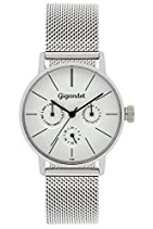 Gigandet Damen-Armbanduhr Minimalism Quarz Multifunktion Uhr Datum Analog Edelstahlarmband Silber G38-005