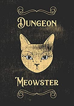 Dungeon Meowster  Mixed Role Playing Gamer Paper  College Ruled Graph Hex   Vintage Design RPG Gaming Journal