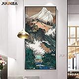 SQSHBBC Neue Moderne Chinesische Tinte Landschaft Wald