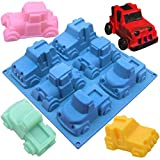 MEIBEL 6 Truck SUV Car Shape Silicone Cake Baking Mold Cake Pan Muffin Cups Handmade Soap Molds Biscuit Chocolate Ice Cube Tray DIY Mold