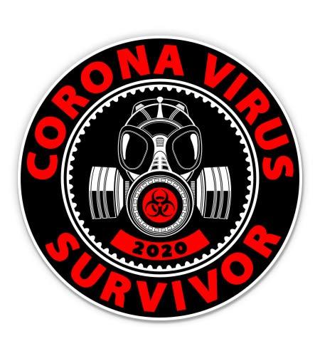 GT Graphics Express Coronavirus Survivor Covid 2020-5' Vinyl Sticker - for Car Laptop I-Pad - Waterproof Decal