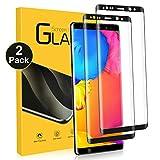 NONZERS Cristal Templado para Samsung Galaxy Note 8, [2 Unidades] 3D Sin Cobertura Toda Pantalla 9H Dureza Vidrio Templado, Funda Compatible, HD Protector de Pantalla para Samsung Note 8
