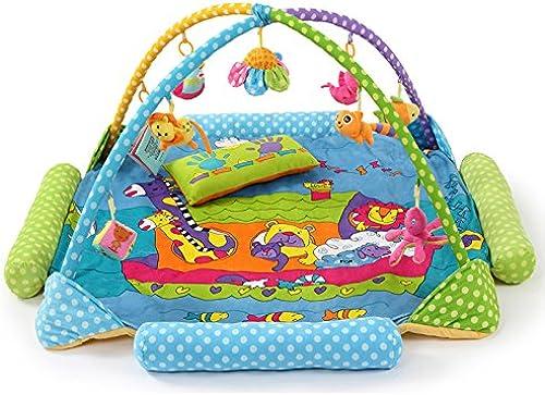 Huwai Musikalische Aktivit Fitnessraum Aktivit bunten h enden Spielzeug Crawl-Teppich Spielen Gym Baby-Spiel-Matte, Blau