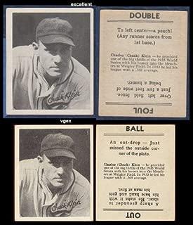1936 Goudey Regular (Baseball) Card# 20 Chuck Klein of the Chicago Cubs Ex Condition