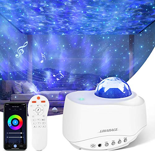 DONWELL Galaxy Projector, Star Projector Night Light Compatible with Alexa & Google Home, with...