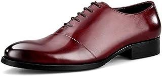 ビジネスシューズ メンズ 革靴 ロングノーズ レースアップ 本革 紳士靴 フォーマル ポインテッドトゥ メンズ 靴 メンズシューズ ビジネス ストレートチップ おしゃれ 結婚式 冠婚葬祭 黒 ブラック ワインレッド