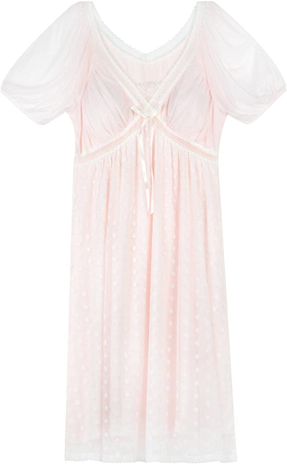 STJDM Nightgown Embroidery Lace Latest item Peignoir Dress Night Women Sexy Super-cheap