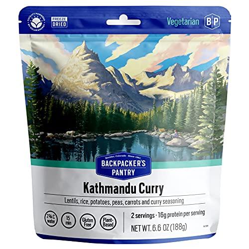 Backpacker's Pantry Kathmandu Curry | Freeze Dried Backpacking & Camping Food | Emergency Food | 32 Grams of Protein, Vegan, Gluten-Free | 1 Count