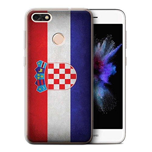 Stuff4® Gel TPU hoes/case voor Huawei P9 Lite Mini/Kroatië/Kroatisch patroon/vlag collectie