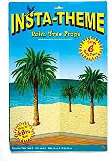 Palm Tree Props Party Accessory (1 count) (6/Pkg)