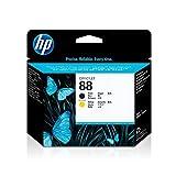 HP 88 - Cabezal de impresión Original Negro y Amarillo, Color Negro