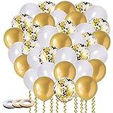 60 PCS Ballon Or, Ballon Anniver...